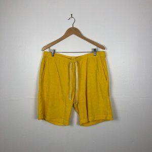 American Apparel Yellow Sports Shorts
